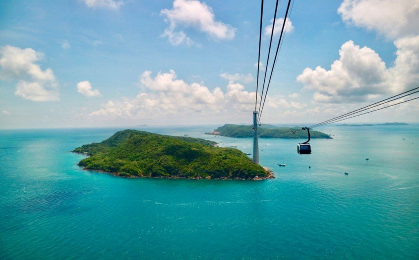 Cable car in Phu Quoc
