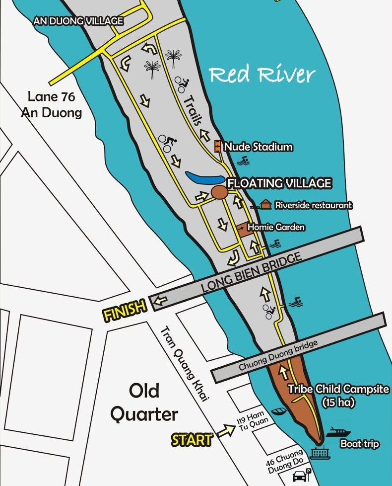 Map to Hanoi banana island