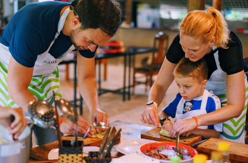 Vietnam family cooking class with kids