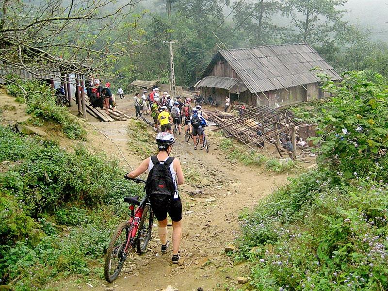 Mountain biking in Sapa - vietnam family adventure holidays