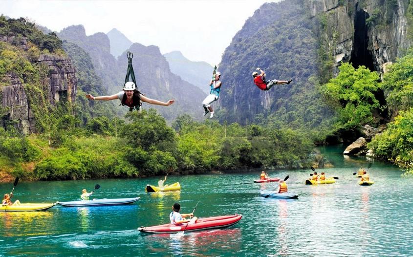 zipline in Phong Nha